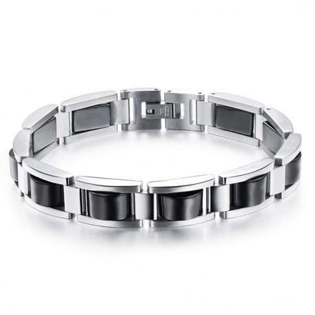 Bracelet Homme Acier Noir