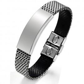 Bracelet Acier Gris Clair