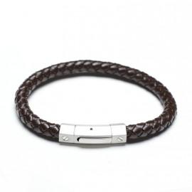 Bracelet lien en cuir marron