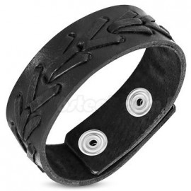 Bracelet Force Cuir insert tressé
